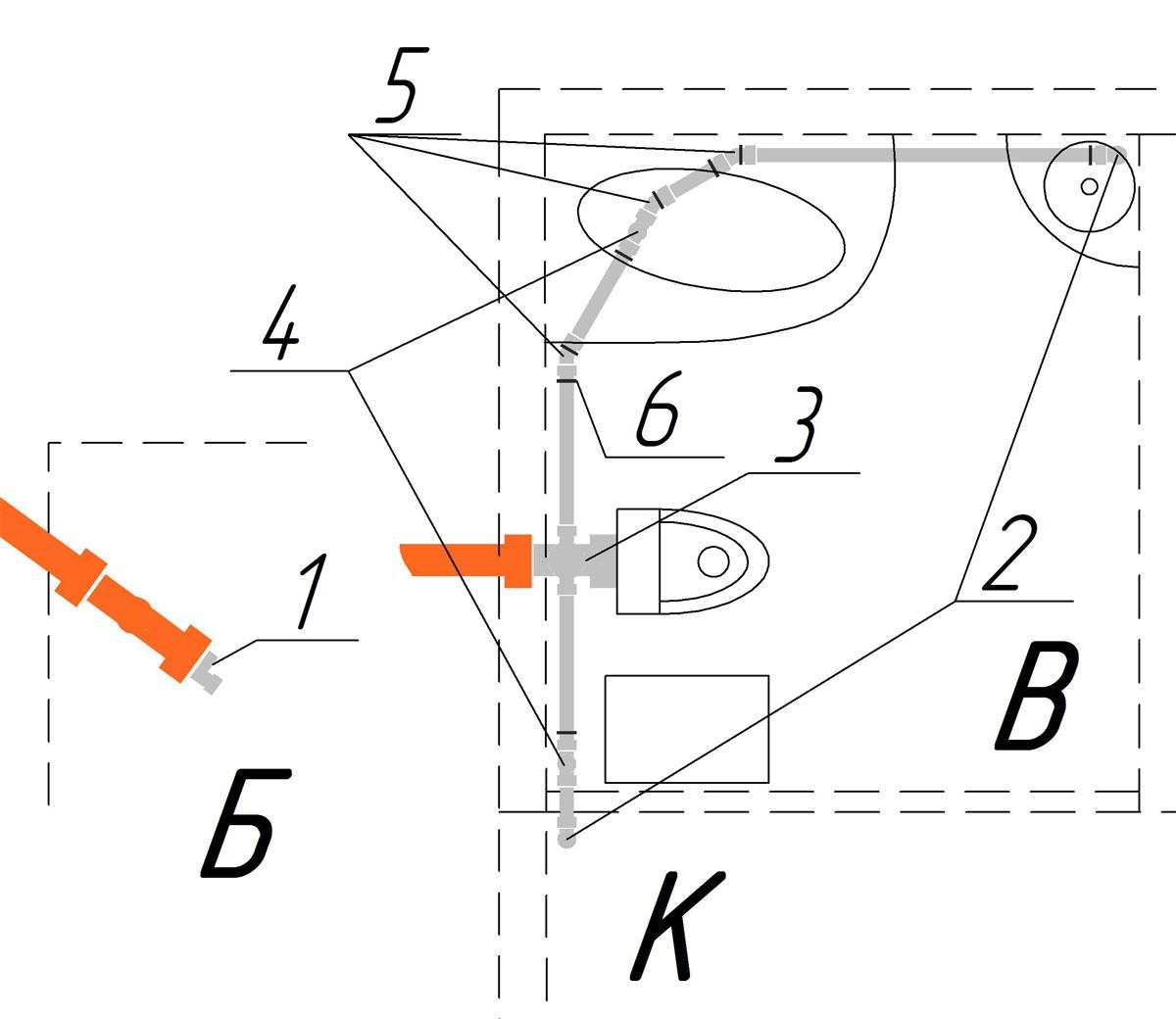 Прокладка канализационных труб в частном доме схема