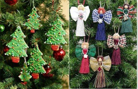 Новогодние елки своими руками из ватных дисков